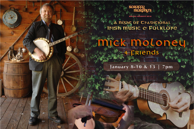 Traditional Irish Music Night with Mick Moloney at Scruffy Murphy's Irish Pub